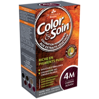 COLOR&SOIN Kit coloration permanente 4M châtain acajou à NOYON