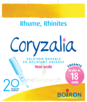 Boiron Coryzalia Solution buvable unidose B/20 à NOYON